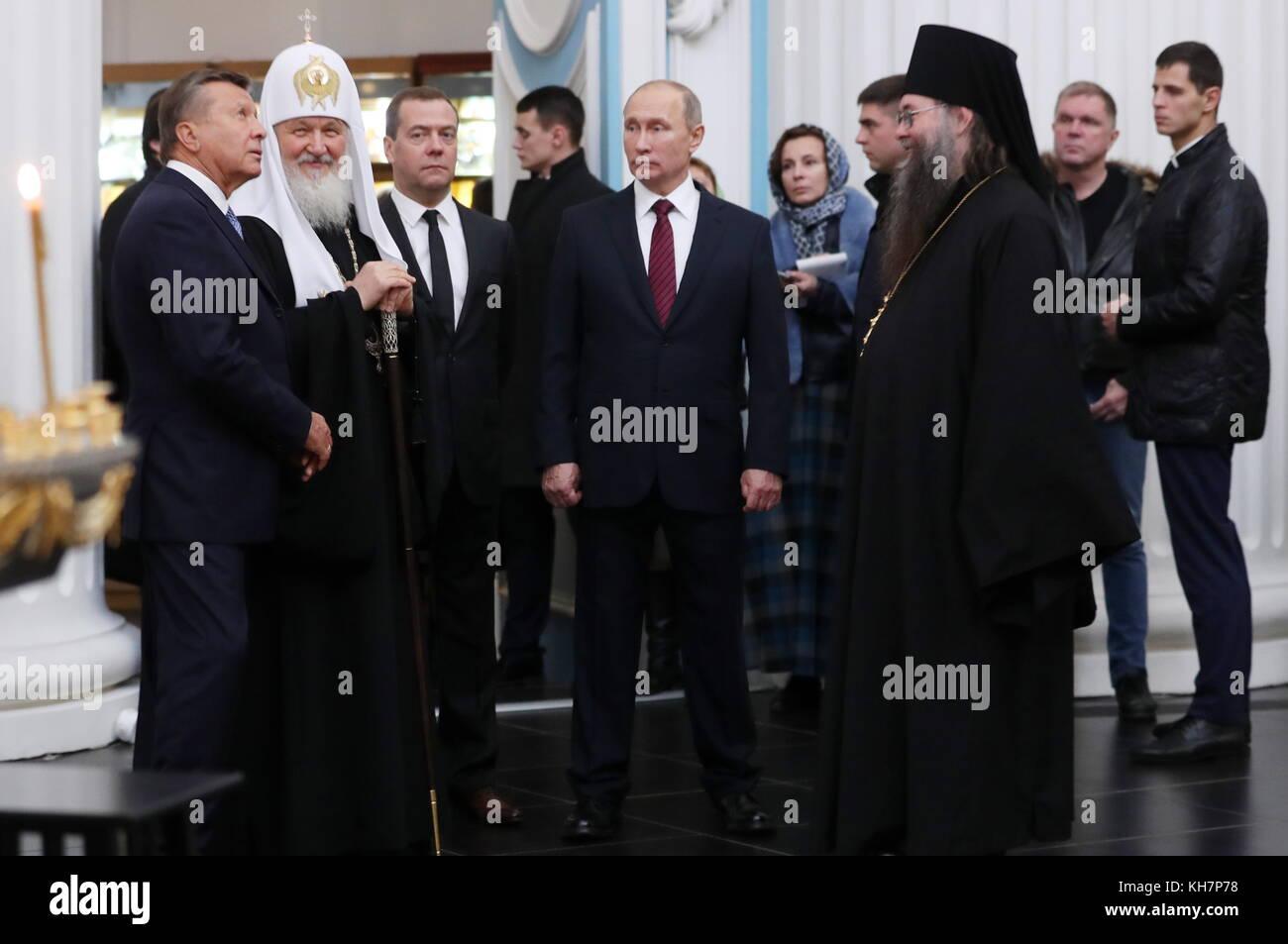 Region Moskau, Russland. 15 Nov, 2017. Vorstandsvorsitzender des Charity Fonds für die Wiederherstellung des neuen Stockfoto