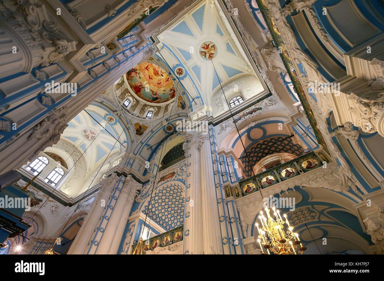 Region Moskau, Russland. 15 Nov, 2017. innenraum der Kathedrale der Auferstehung im neuen Jerusalem Kloster in der Stockfoto