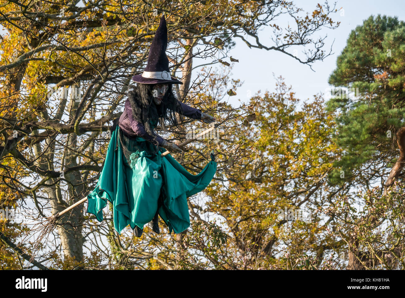 Flying Witch Halloween Decoration