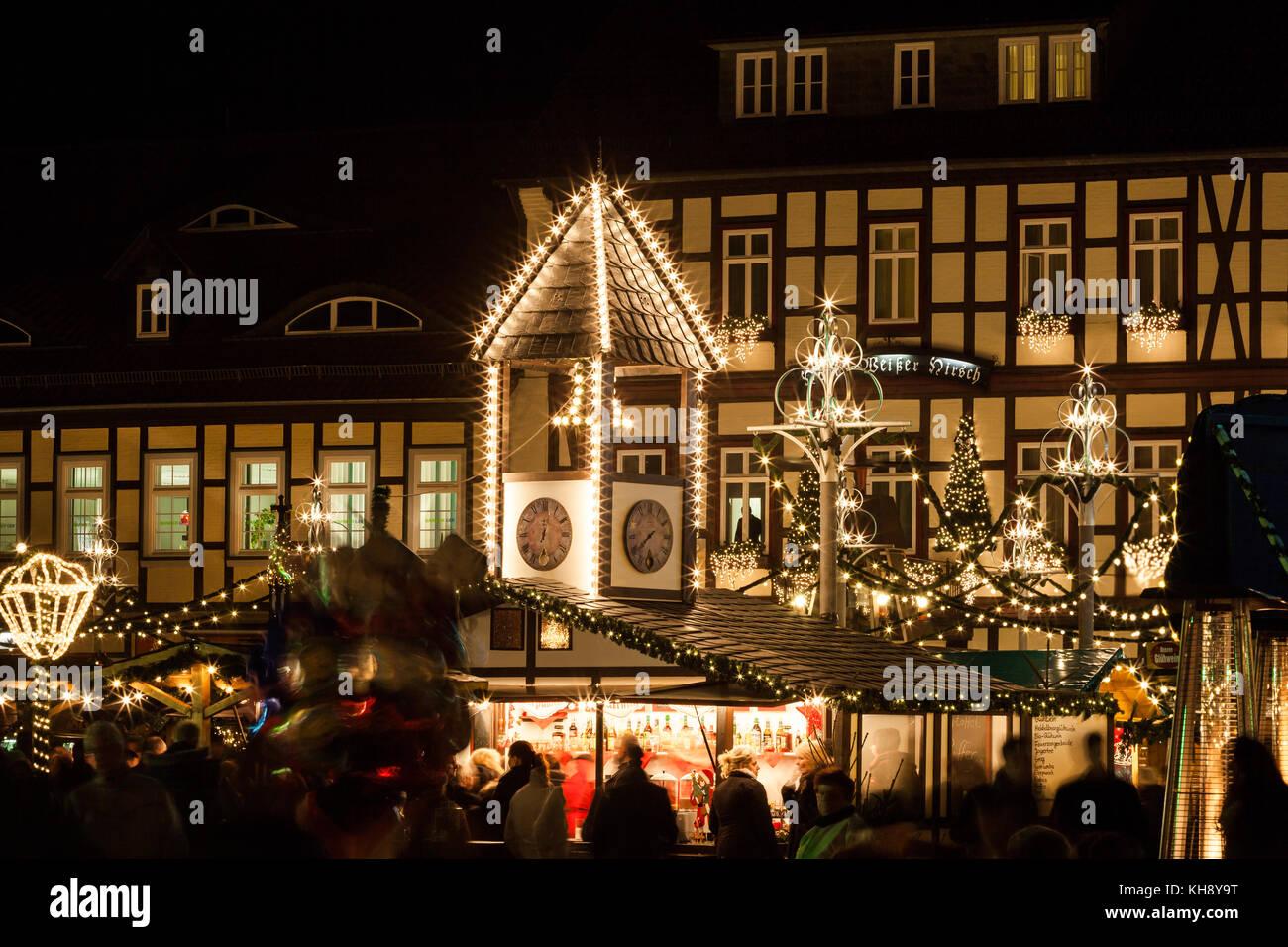 Weihnachtsmarkt Wernigerode In Den Höfen.Wernigerode Weihnachtsmarkt Stockfoto Bild 165539524 Alamy