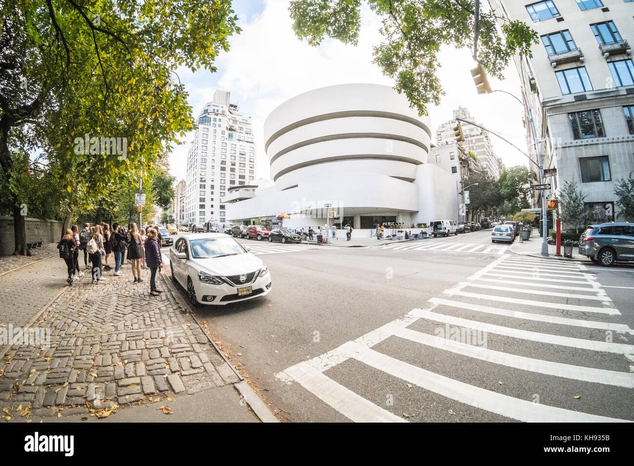 Salomo. Guggenheim Museum, 5th Avenue, Manhattan, New York City, NY, Vereinigte Staaten von Amerika. Usa Stockbild