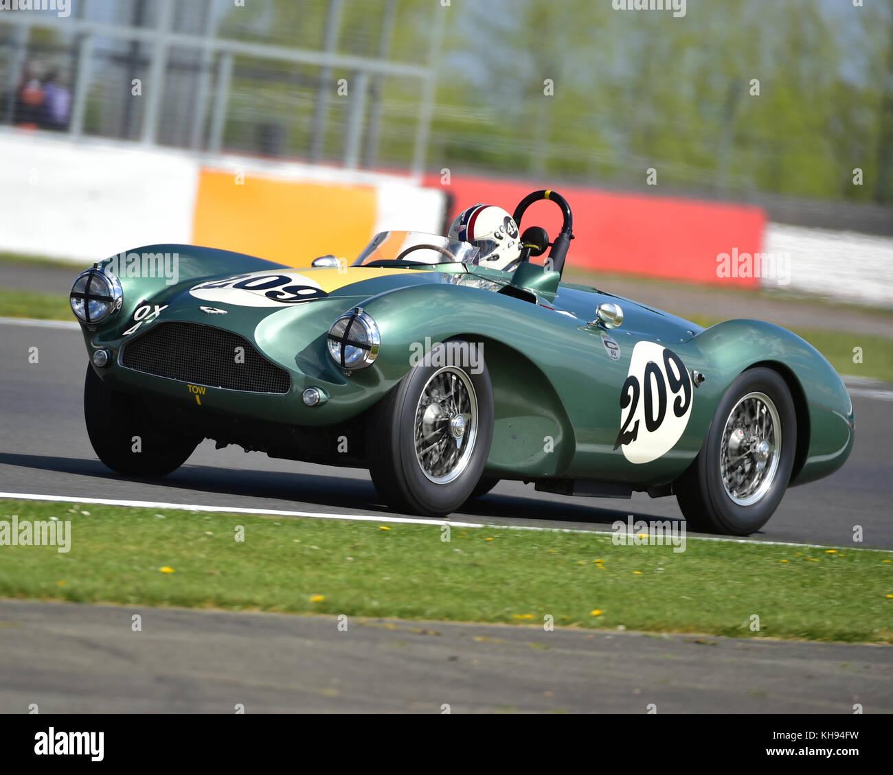 Steven Boultbee-Brooks, Aston Martin DB 3 S, FISCAR, Tom Cole Trophäe, VSCC, Formel Vintage, Runde 1, Silverstone, Stockbild