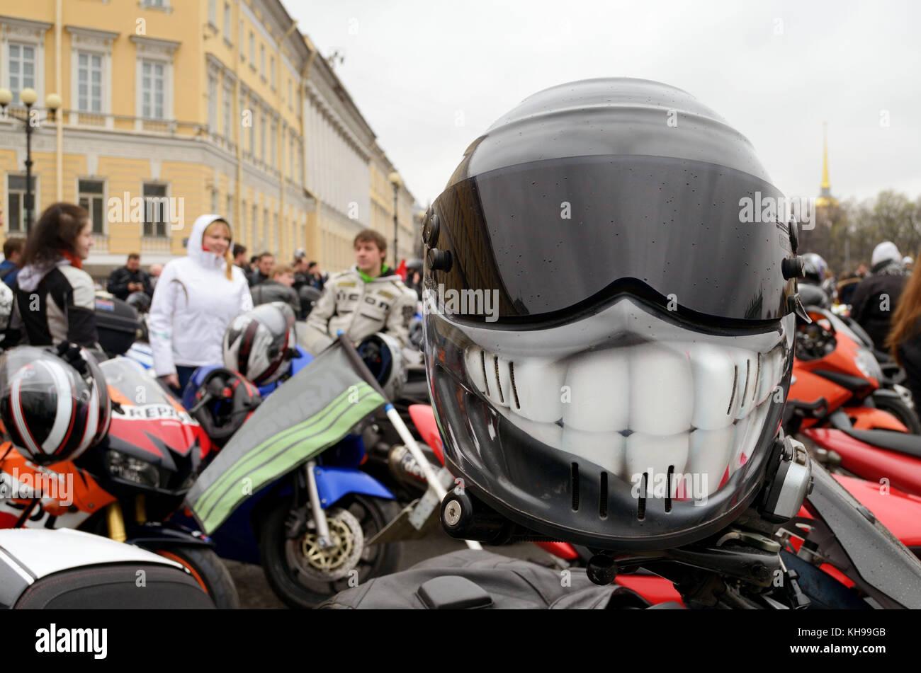 Fotografie war während des Festivals der Biker in st. Petersburg. Stockbild