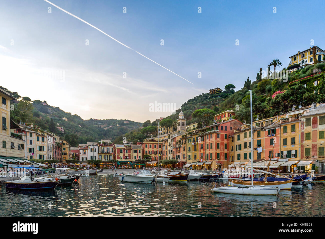 Italien Ligurien. Golf von Tigullio, Italienische Riviera. Portofino Stockbild