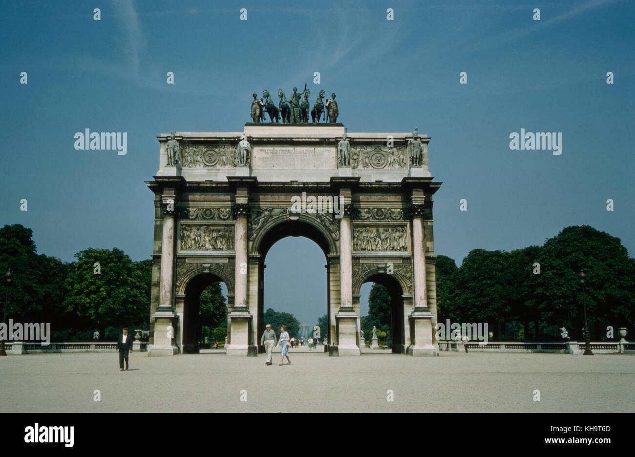 Arc de Triomphe du Carrousel, Paris, Frankreich, 1961 Stockbild