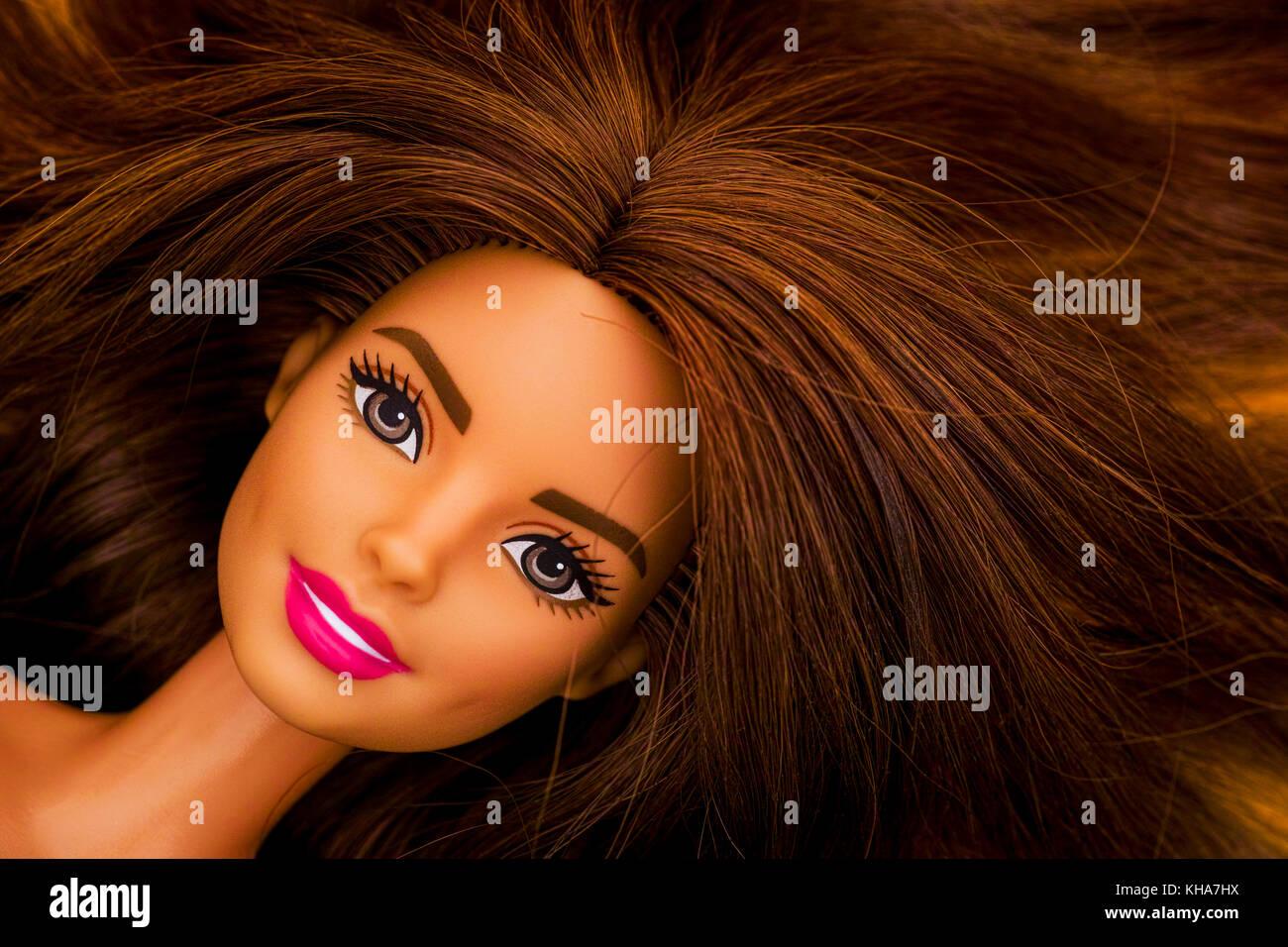 Tambow Russland 28 September 2017 Portrait Von Barbie Puppe Mit