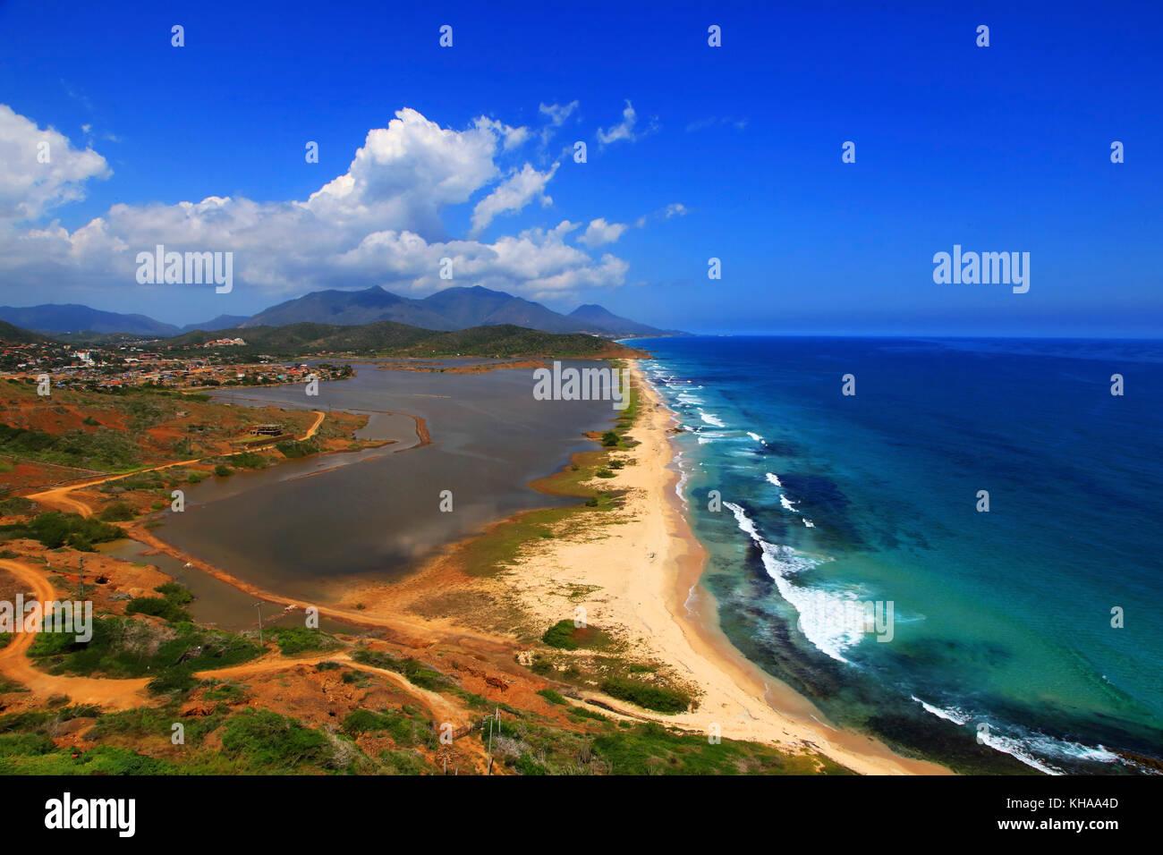 Venezuela Insel Margarita Salinas De Playa El Agua Playa Salina