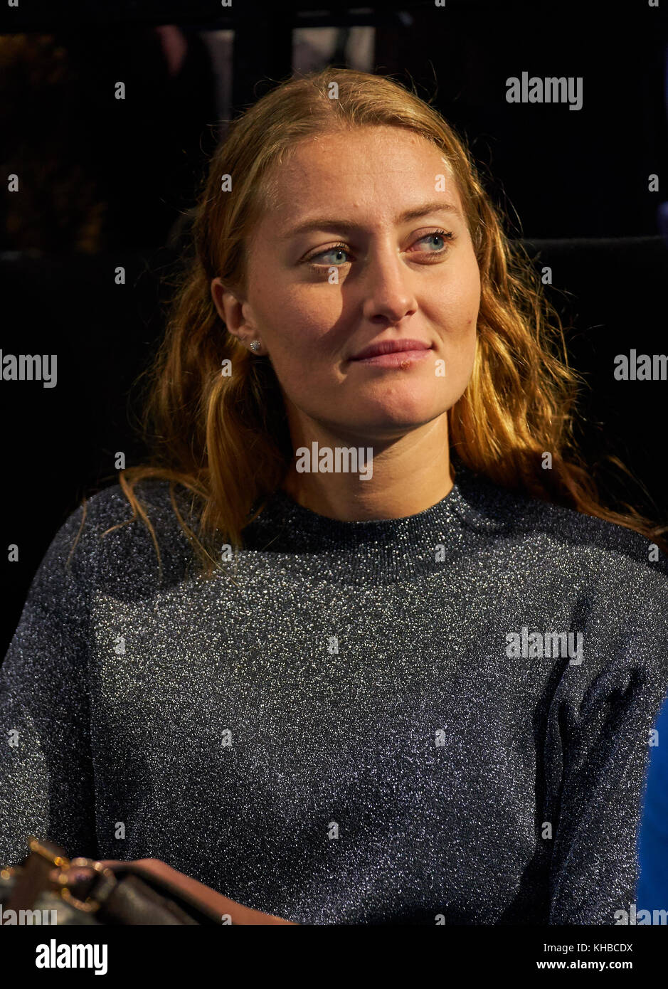Atp Tennis London November 15 2017 Dominic Thiem Aut Freundin Und Tennisprofi Kristina Mladenovic Fra In Der Ausbildung Und Vorbereitung Auf Das Match Dominic Thiem Aut Gegen Pablo Carreno Busta Esp An
