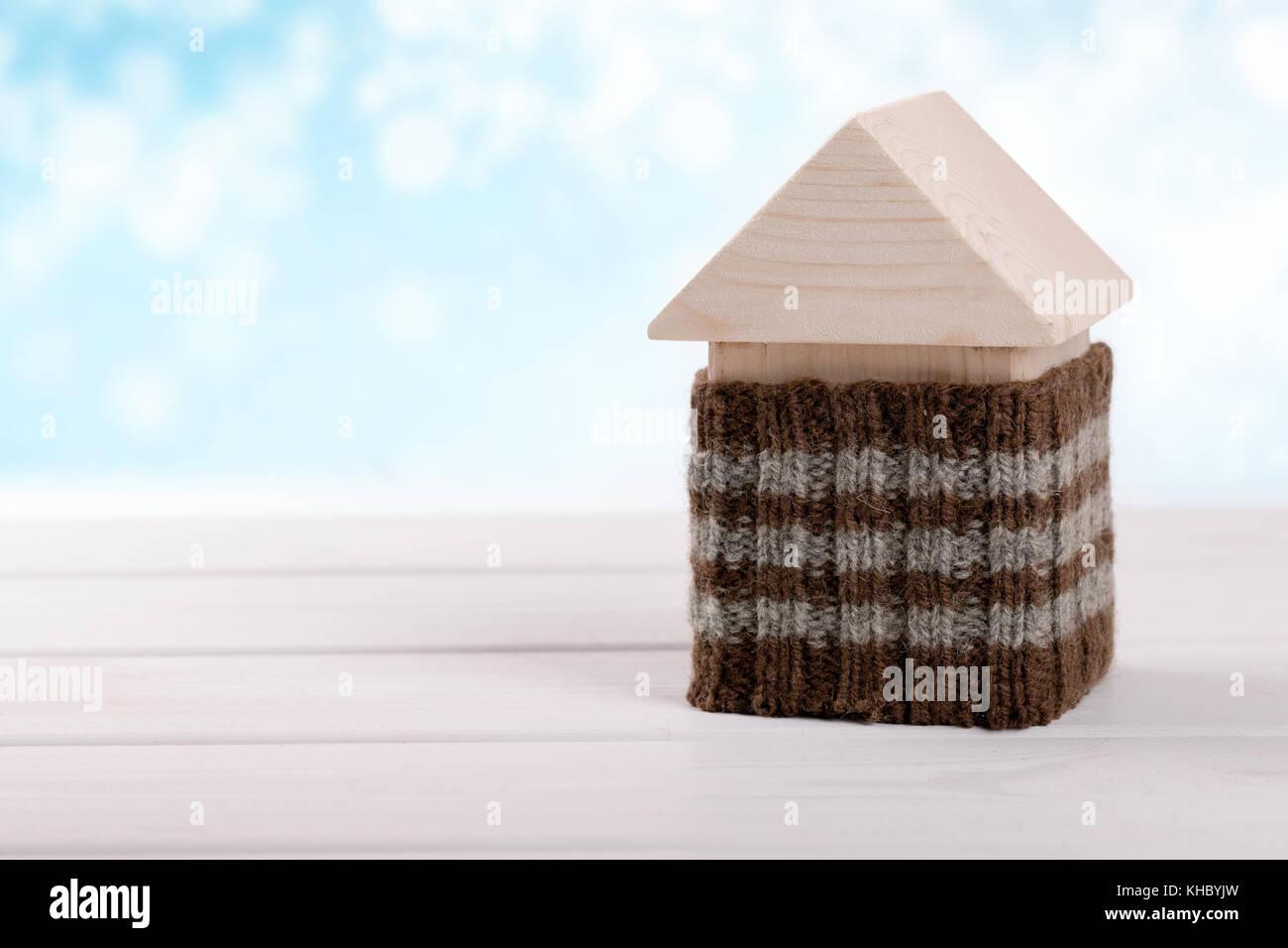 Haus Isolierung.Energieeffiziente home Konzept Stockbild