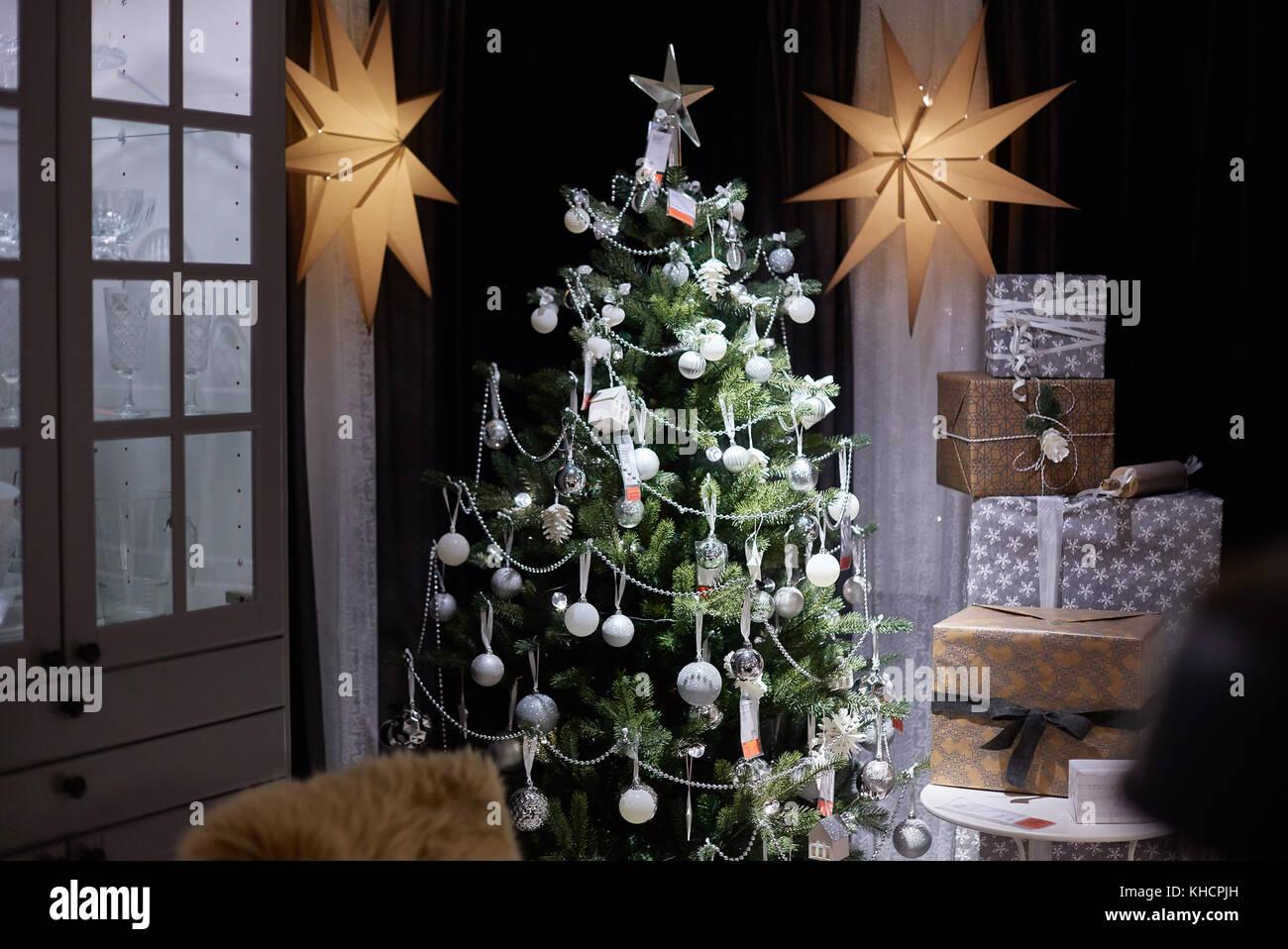 Samara Russland November 15 2017 Weihnachten Dekoration Im Ikea