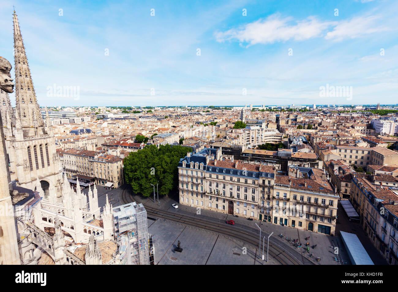 Antenne Panorama von Bordeaux Bordeaux, Nouvelle - Aquitaine, Frankreich. Stockbild
