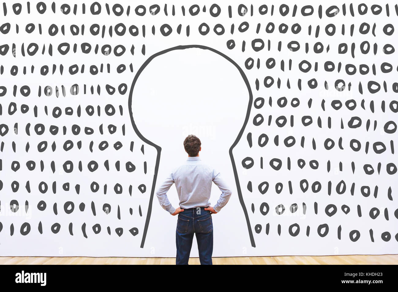 Zugriff auf digitale Daten auf dem Server gesichert login Konzept Stockbild