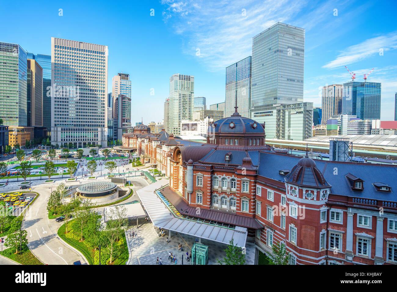 Tokyo Station, ein Bahnhof im Geschäftsviertel marunouchi Chiyoda Stockbild