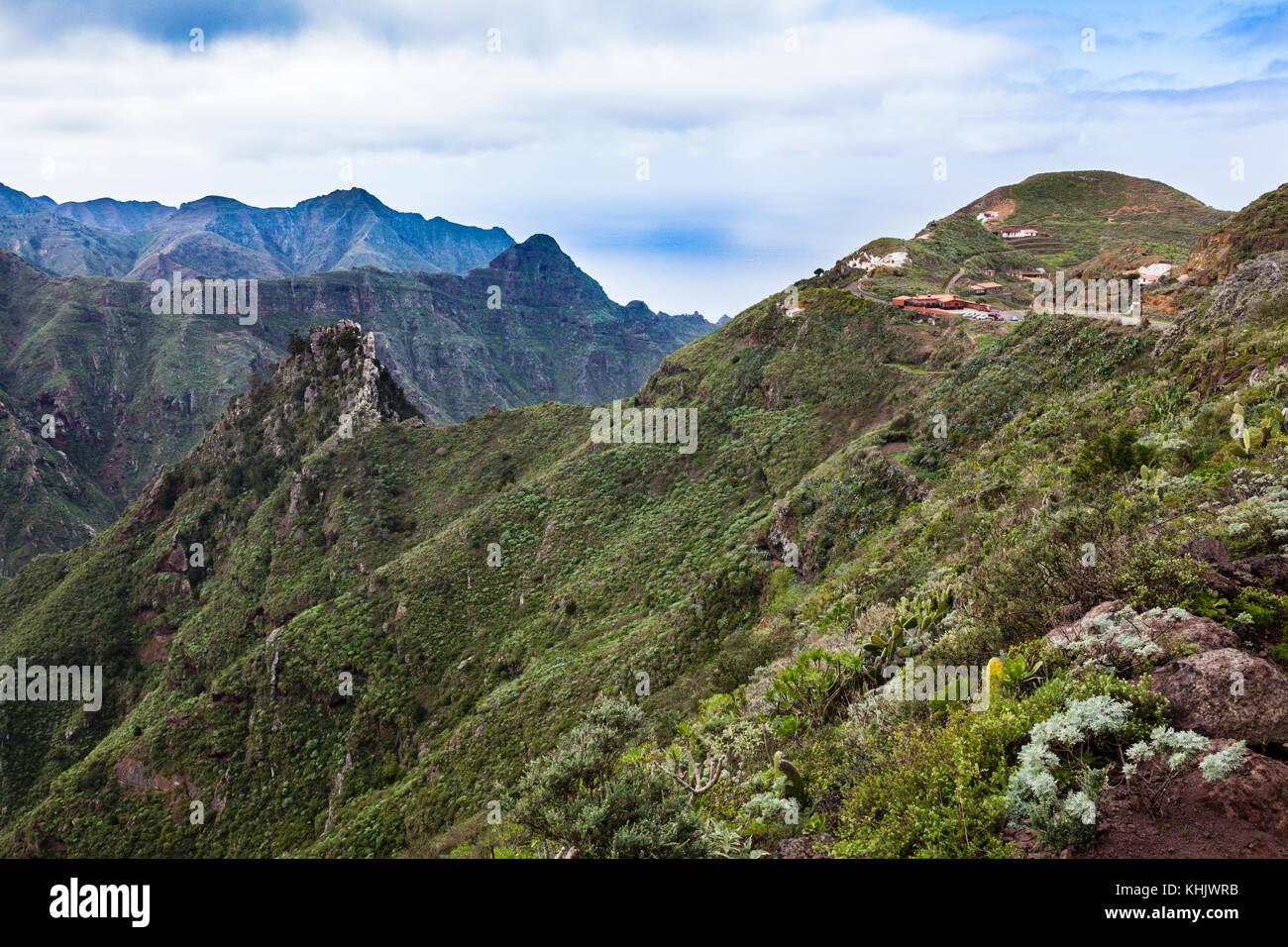 Chinamada Höhle Dorf im Anagagebirge, Teneriffa, Spanien Stockbild