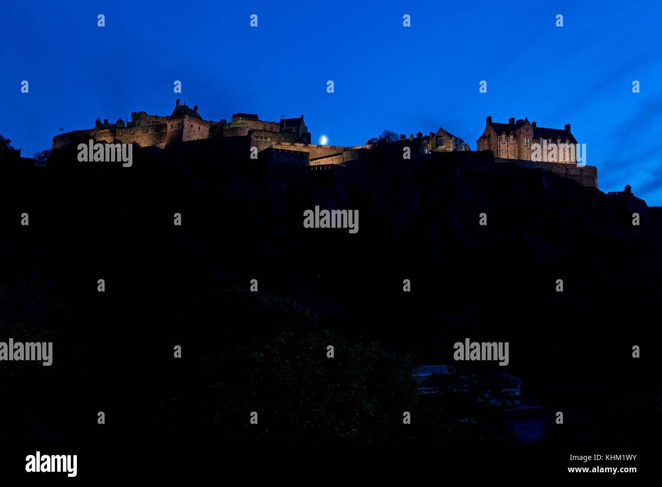 Schloss Edinburgh, Edinburgh, Schottland, Großbritannien Stockbild