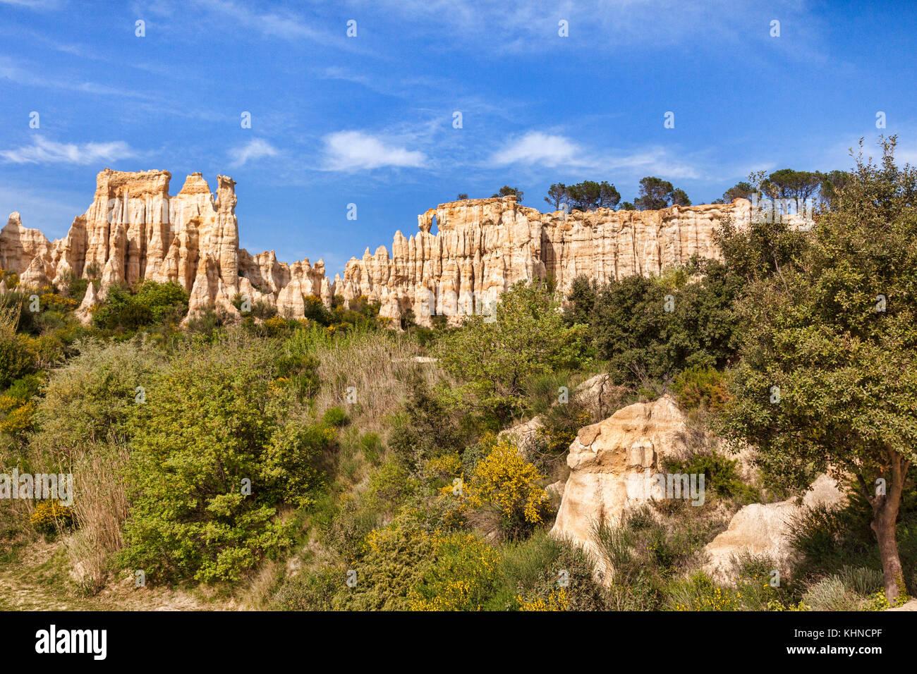 Les Orgues d'Ille sur tet, Languedoc - Roussillon, Pyrenäen - Orientales, Frankreich. Stockbild