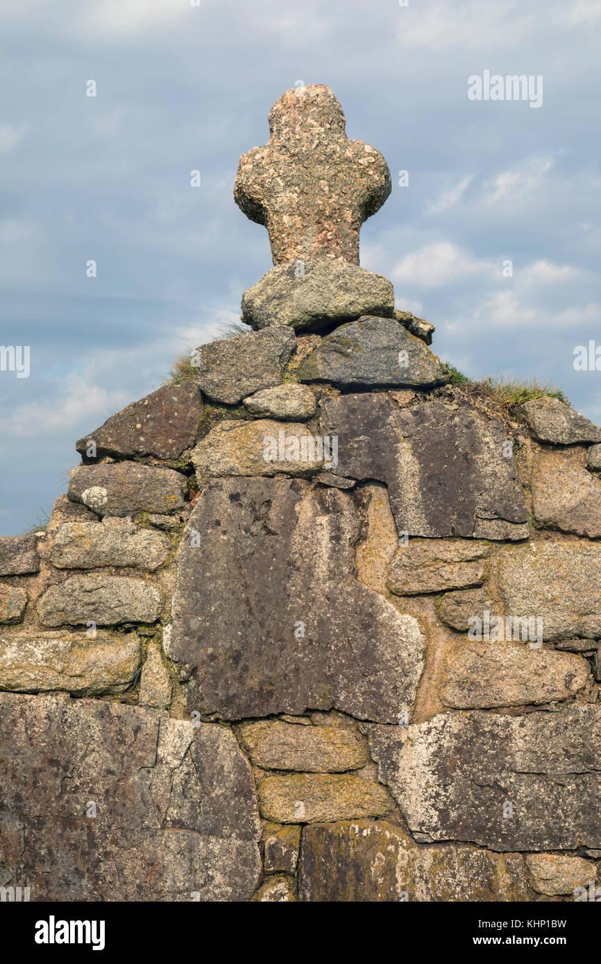 Ein Kreuz aus Stein Stockfoto