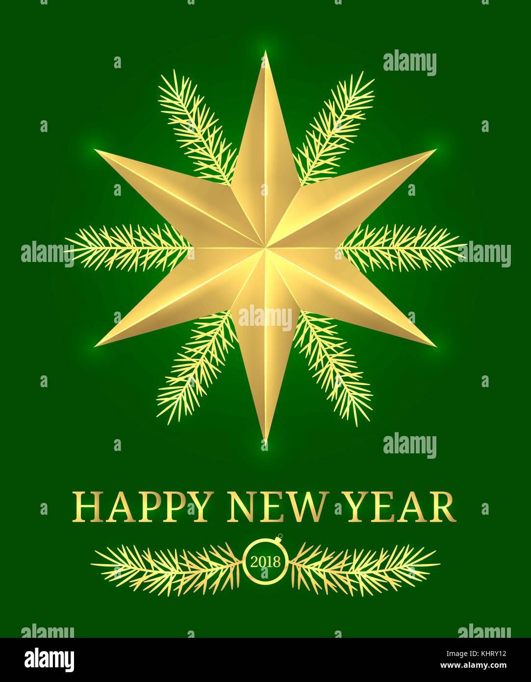Frohes neues Jahr 2018. Vektor holiday Banner mit neuen Jahr Gruß in ...