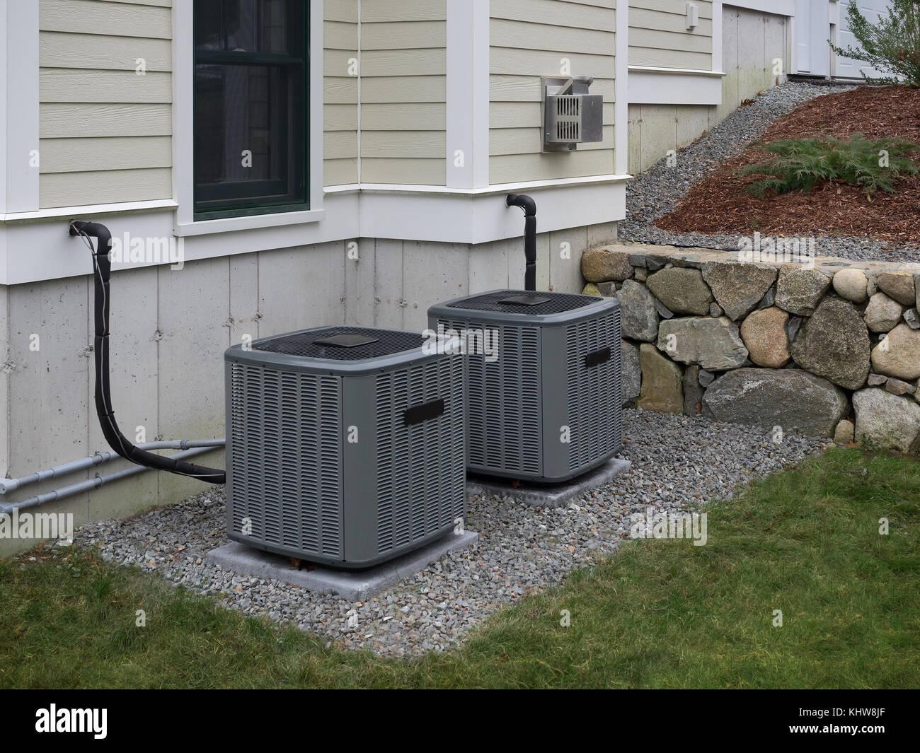 Heizung und Klimaanlage zum Heizen und Kühlen Stockbild