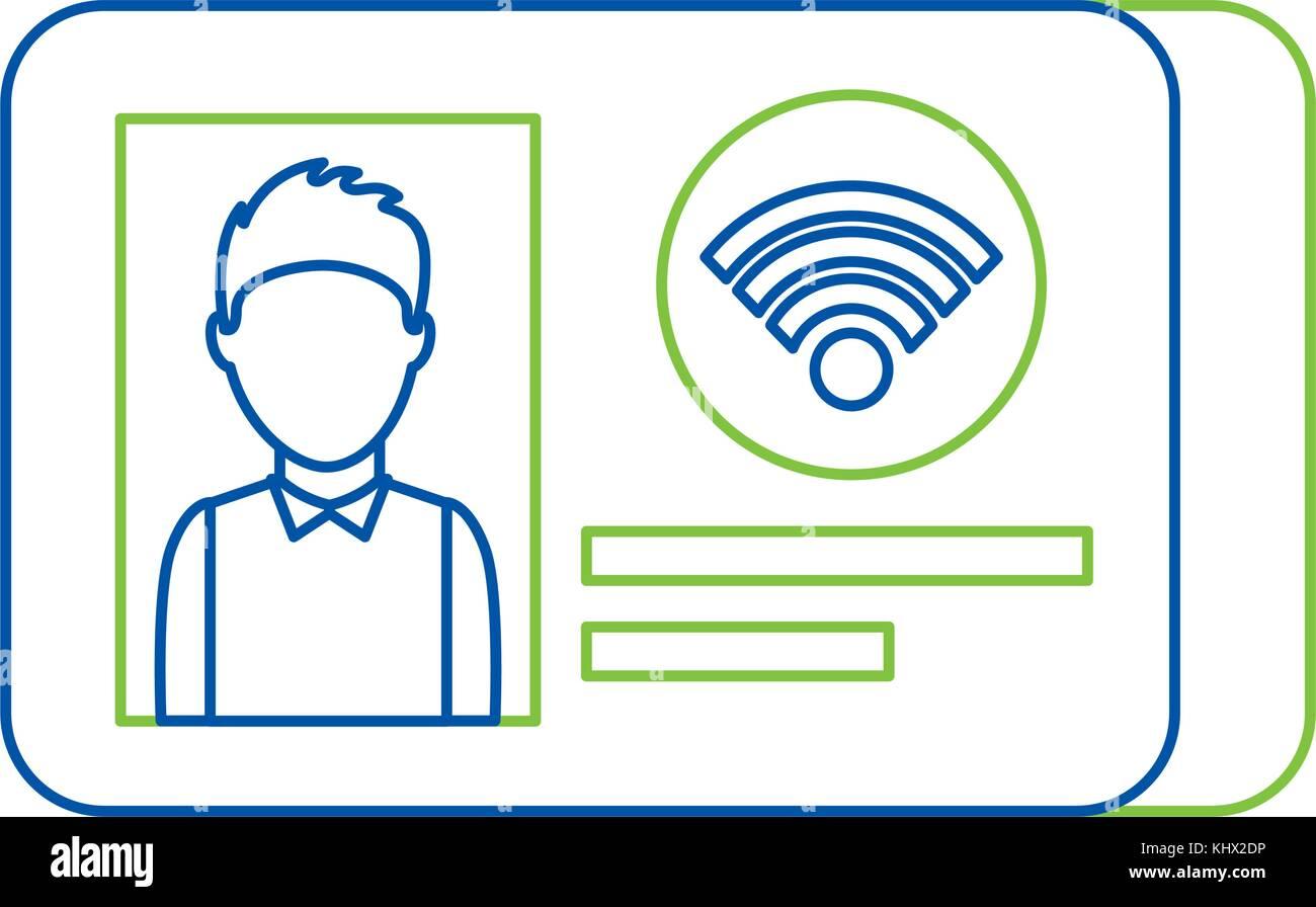 Id-Karte Identität Foto persönliches Dokument Stockbild