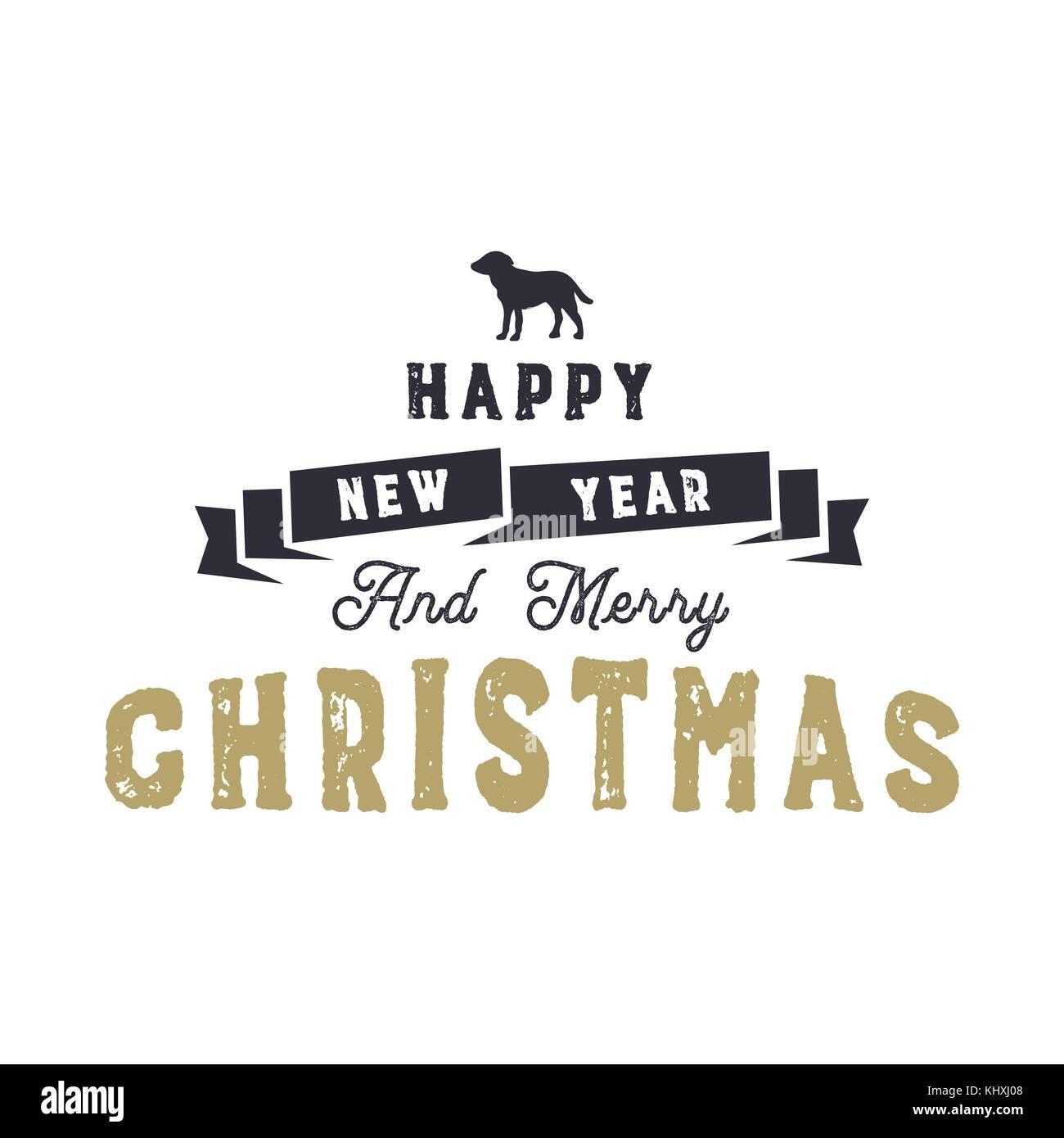 Weihnachten Typografie Zitat Design. Gutes Neues Jahr und Frohe ...