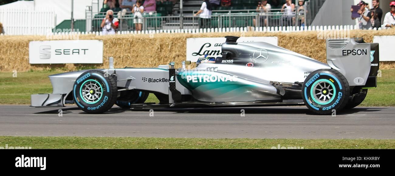 Mercedes Mgp W04 Formel 1 Auto Von Anthony Davidson In Goodwood