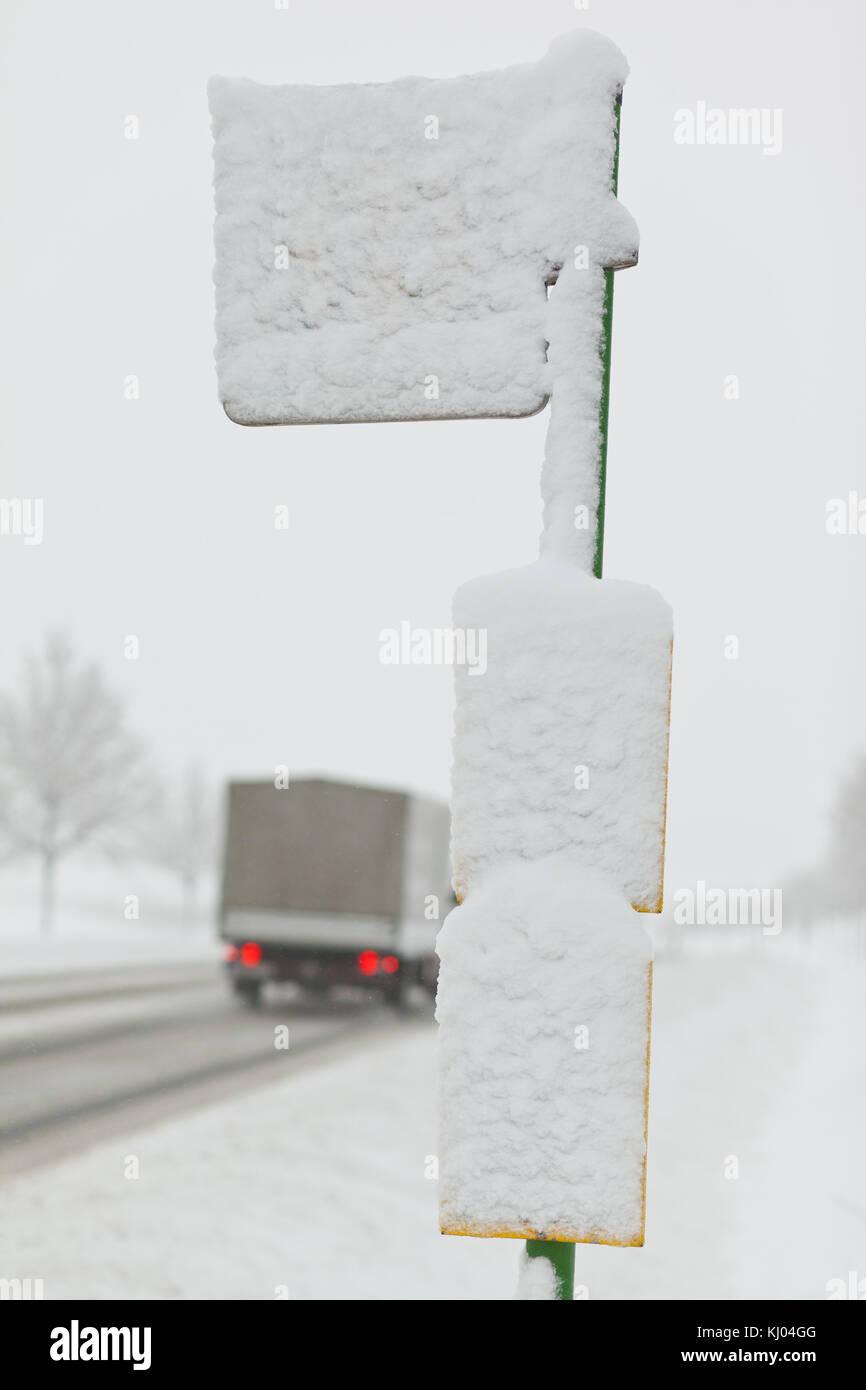 Winterliche Straßen Stockfoto