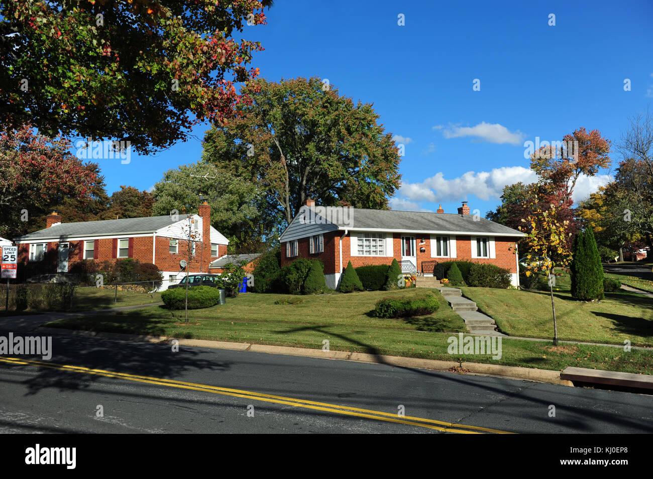 Usa Rockville Maryland Md Wohnungen Hauser In Einem Vorort Von