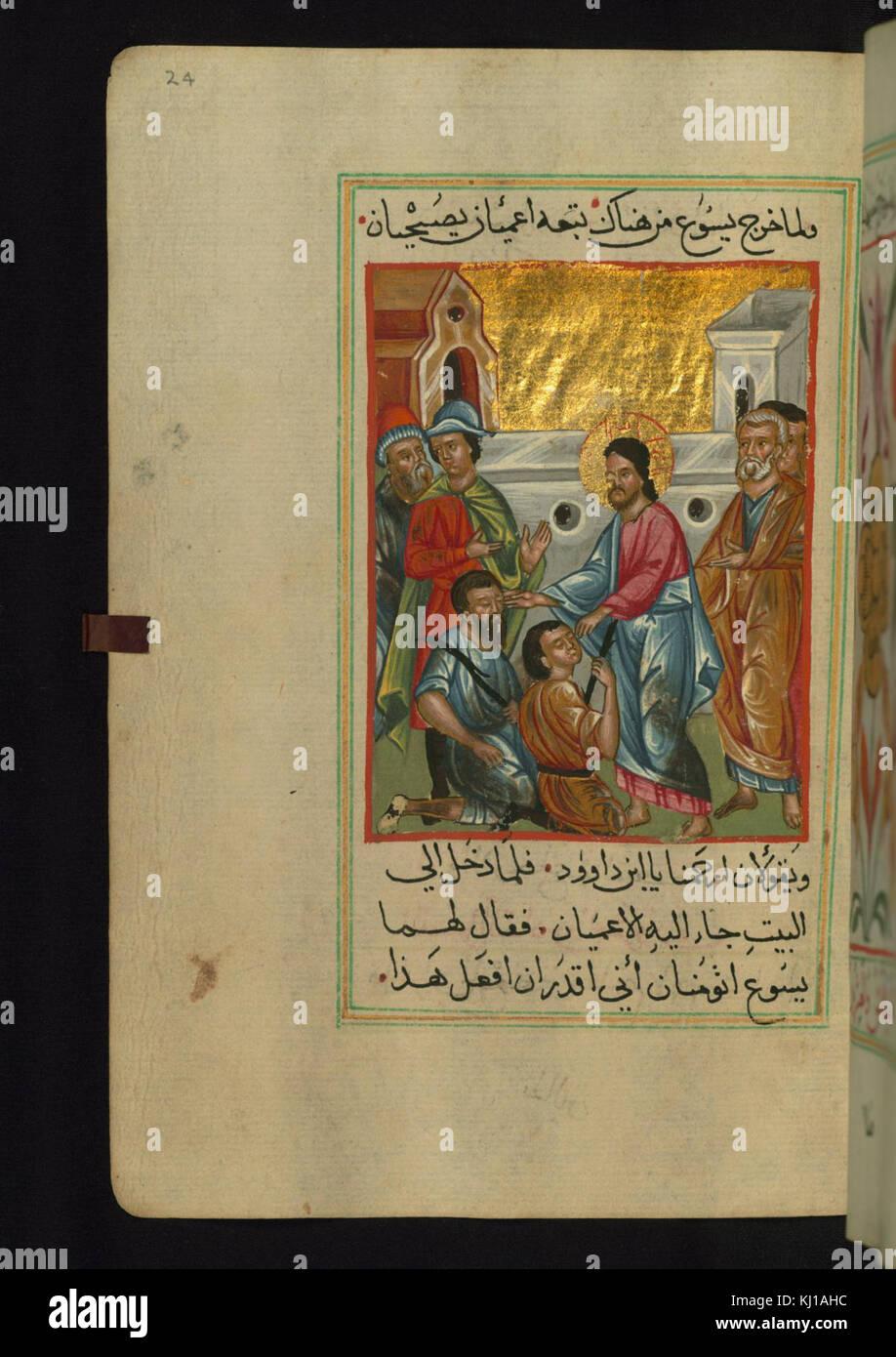 Wunderbar Jesus Heilt Den Blinden Mann Färbung Seite Fotos ...