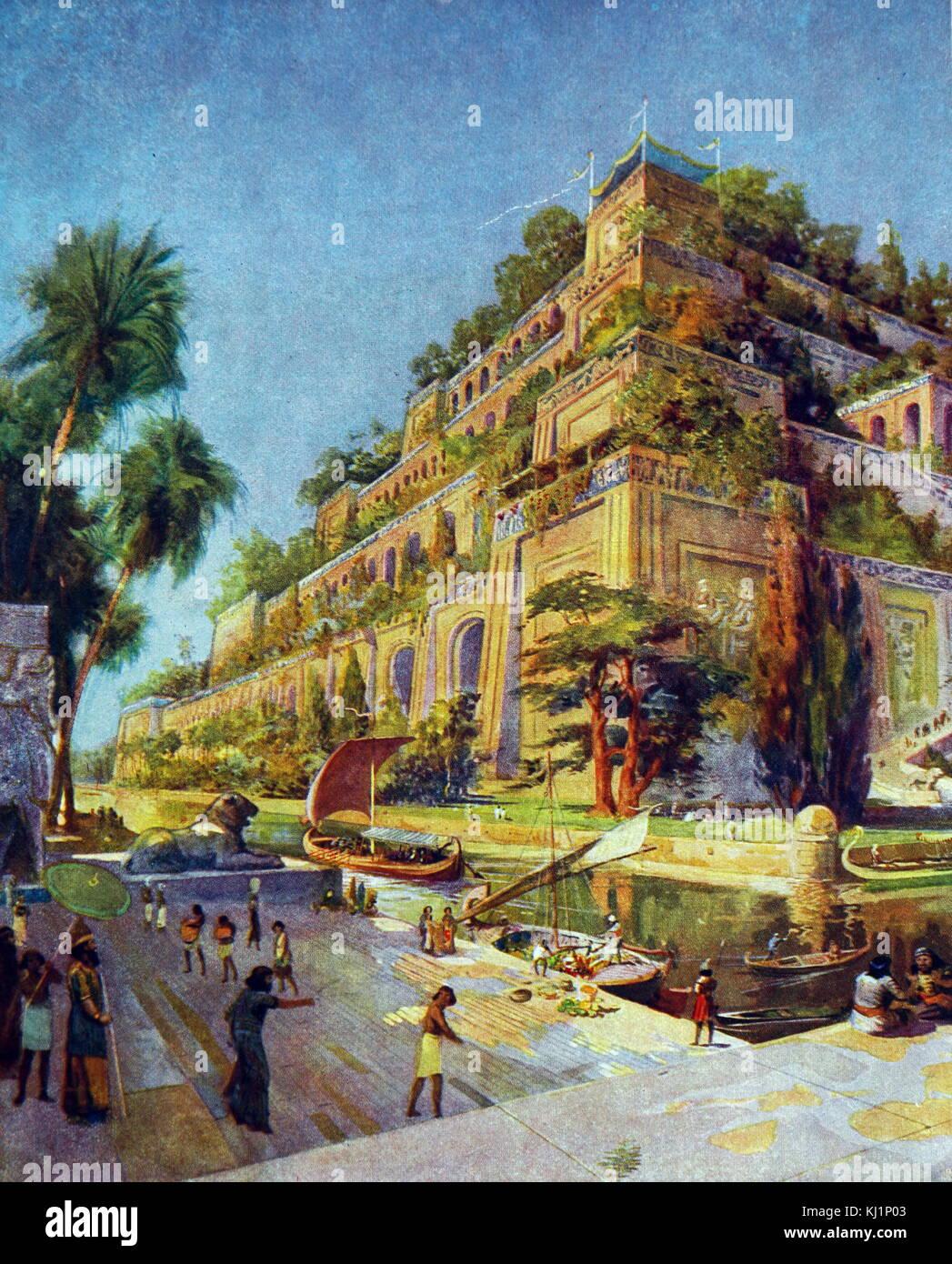 Die Hängenden Gärten Von Babylon Stockfotos und -bilder ...