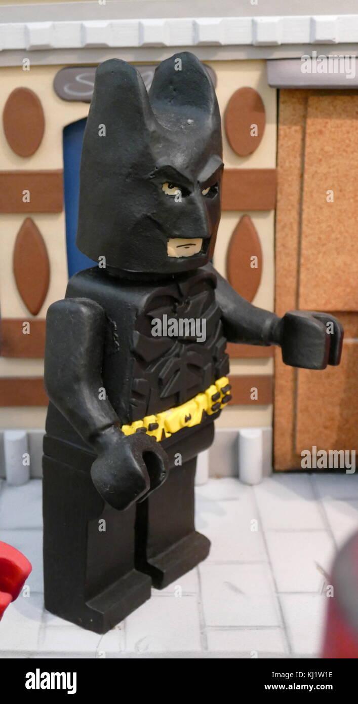 Plastilin Modell der Comicfigur 'Batman'. Vom 21. Jahrhundert Stockbild