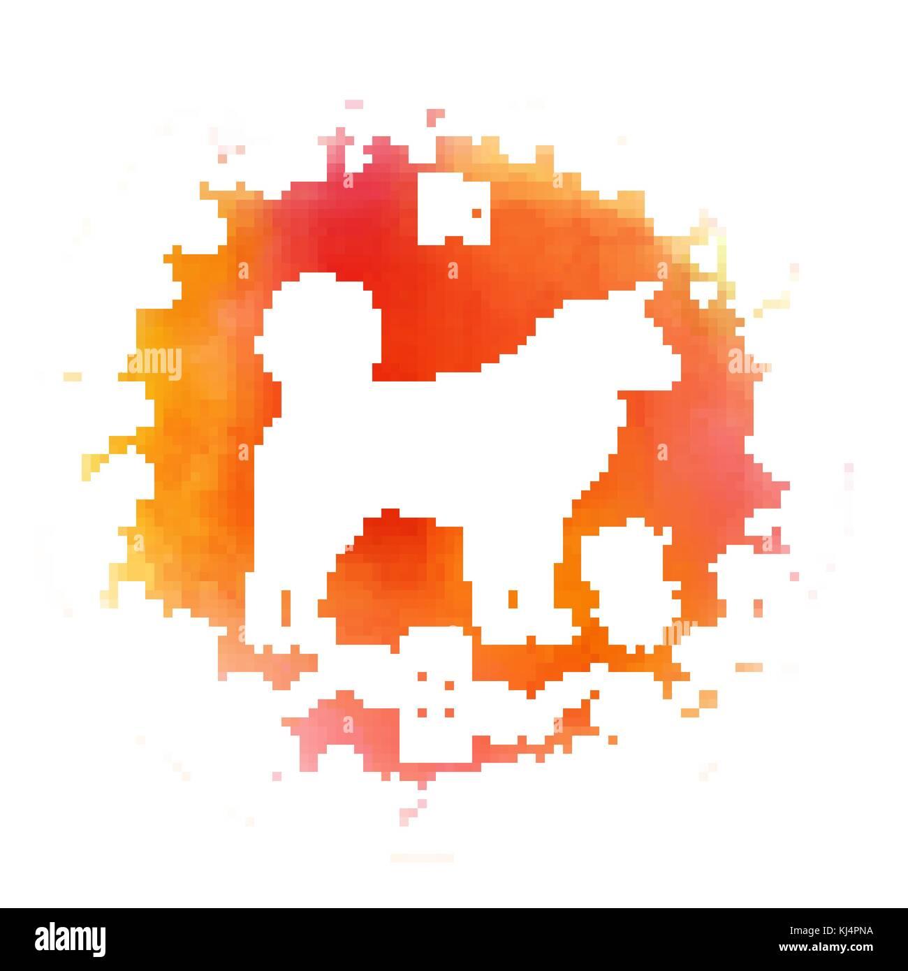Chinesisches neues Jahr festliche Vector Card Design mit Hund ...