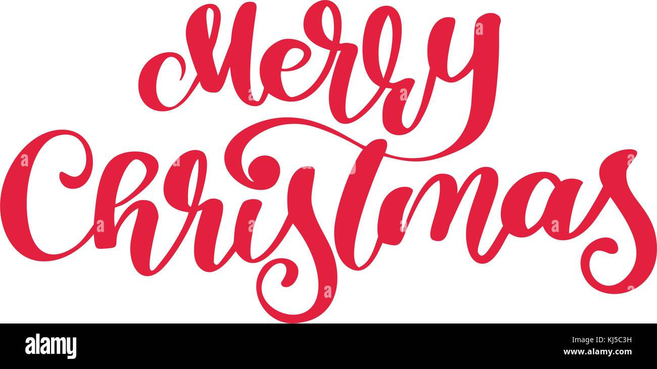 Text frohe Weihnachten handgeschriebene Kalligraphie Schrift ...