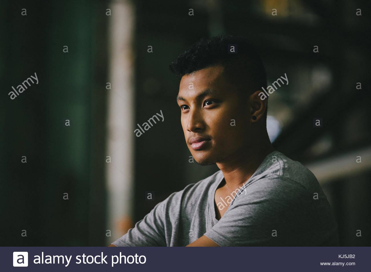 Porträt des jungen Mannes Stockbild