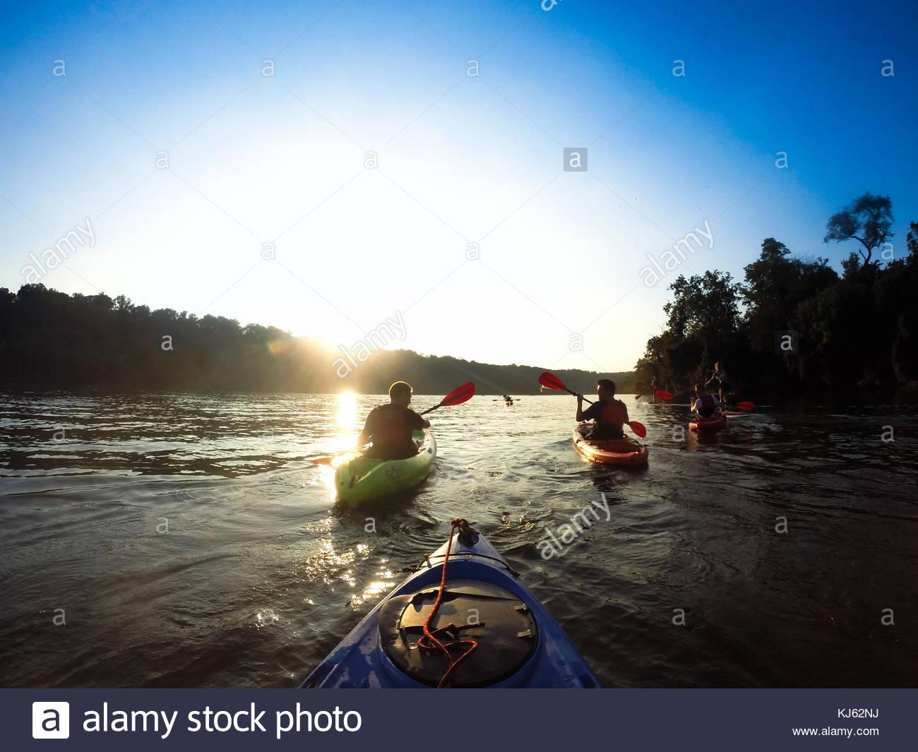 Kanu fahren Stockbild