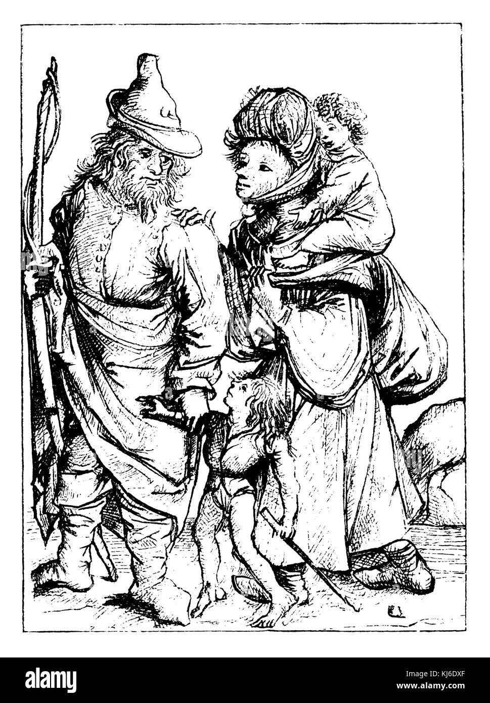 Deutsche Bauern im 15. Jahrhundert (Bauern im 15. Jahrhundert) Stockbild