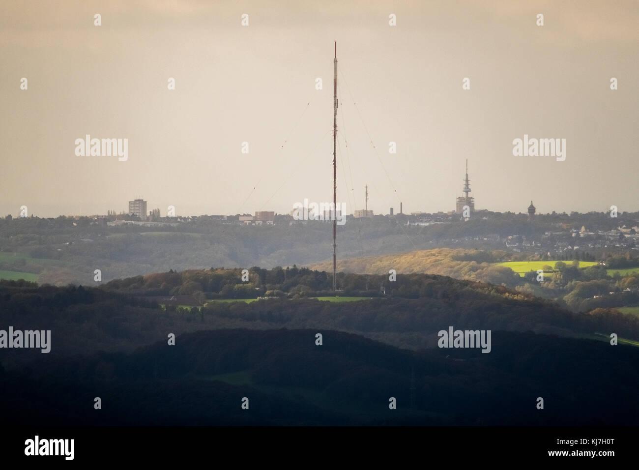 Langenberger Sender aus Witten gesehen, Fernsehturm, Antenne, die Übertragung des Westdeutschen Rundfunks wdr Stockbild