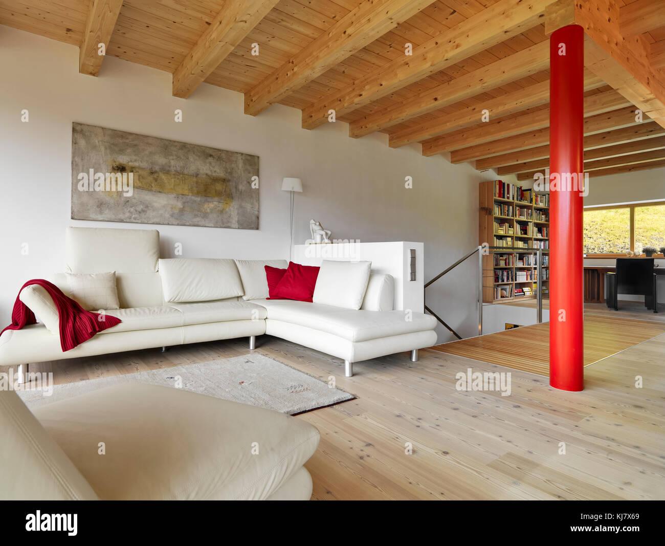 Awesome Holz Boden Und Decke Modern Interieur Photos - House Design ...