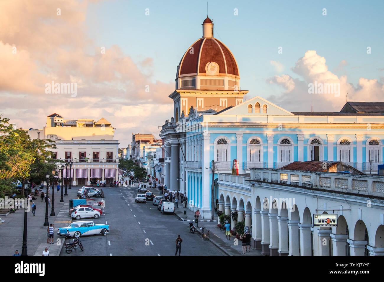 Palacio de Regierung, Cienfuegos, Kuba Stockbild