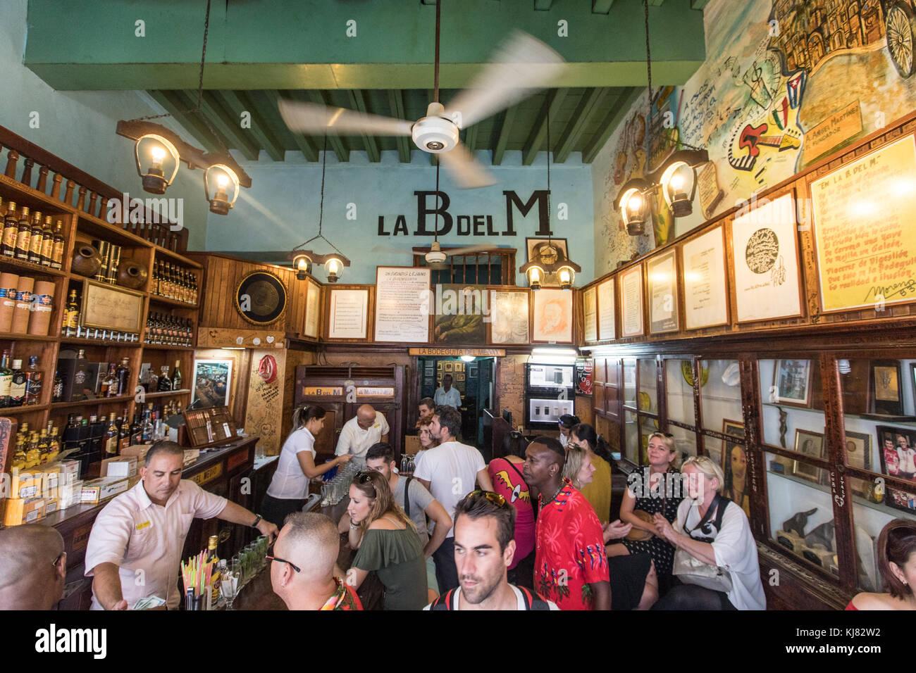 La Bodeguita del Medio berühmten Bar in der Altstadt von Havanna, Kuba Stockbild