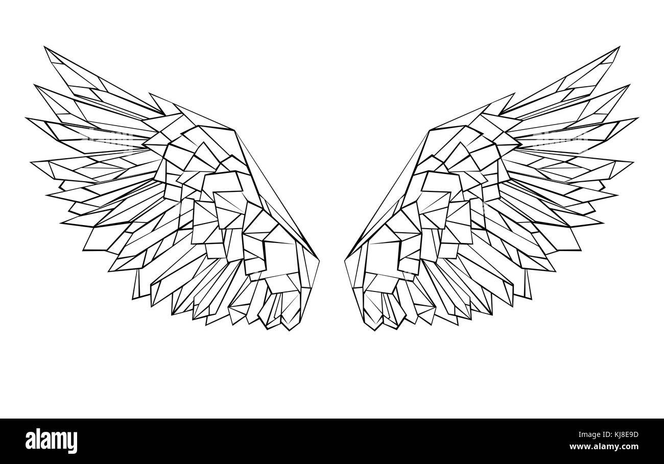 black tattoo wings stockfotos black tattoo wings bilder seite 3 alamy. Black Bedroom Furniture Sets. Home Design Ideas