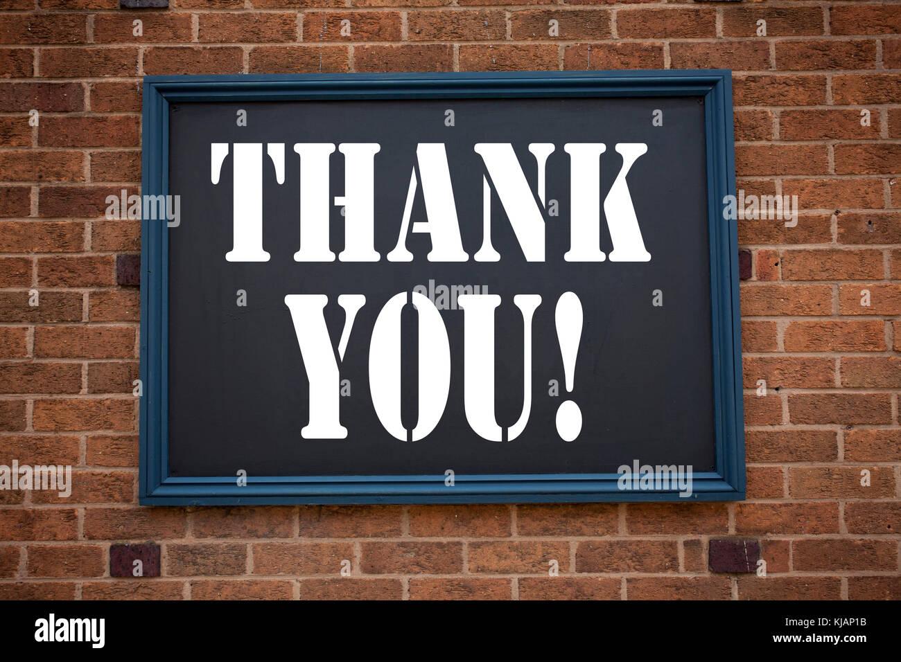 Konzeptionelle Hand schreiben Bildunterschrift inspiration Ansage, Danke. Business Konzept für die Dankbarkeit Stockbild