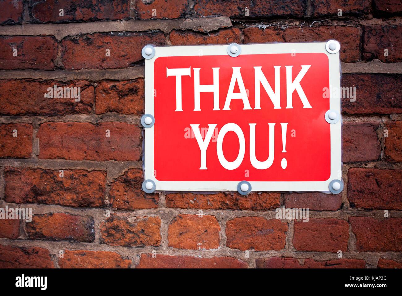 Hand schreiben Bildunterschrift Inspiration zeigen Danke Konzept Sinn geben Dankbarkeit schätzen Nachricht Stockbild