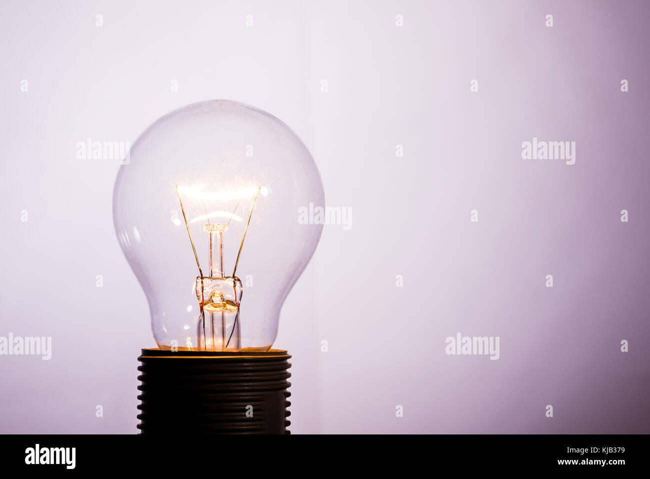 Horizontale Foto Mit Einem Glas Lampe Die Lampe Eingeschaltet Ist