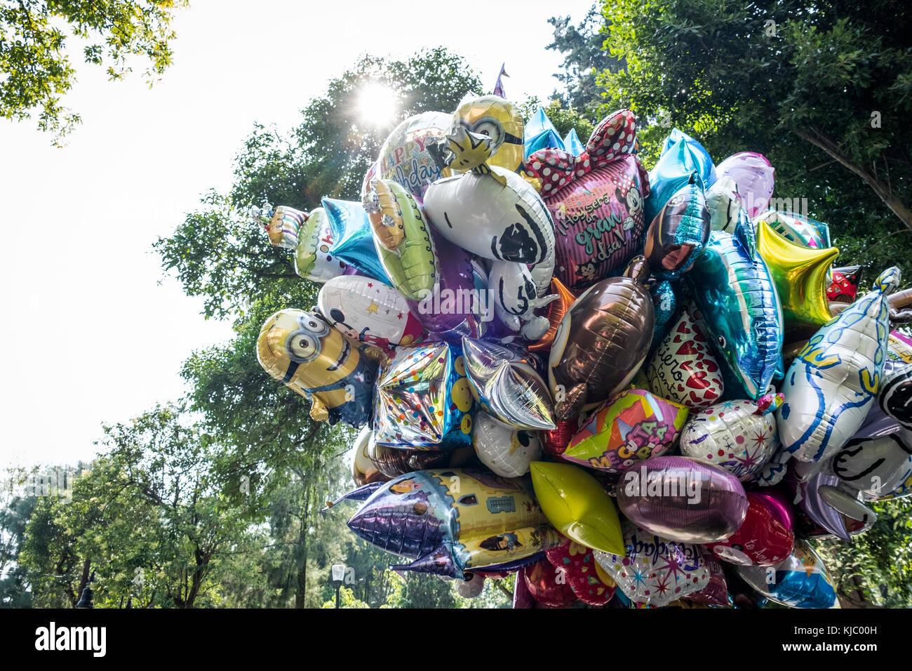 Ballons für Kinder in San Angel Mexico City Stockbild