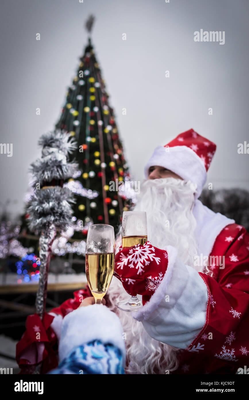 Frohe Weihnachten Rahmen.Frohe Weihnachten Rahmen Gläser Santa Claus Gläser Kostüm