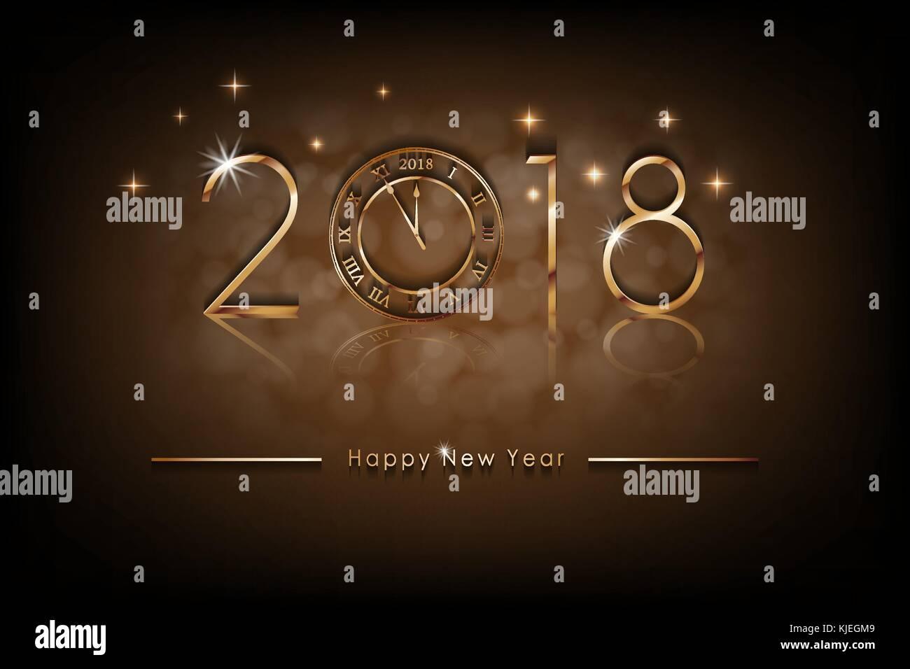 Frohes Neues 2018 Jahr Abbildung. Grüße neues Jahr Hintergrund ...