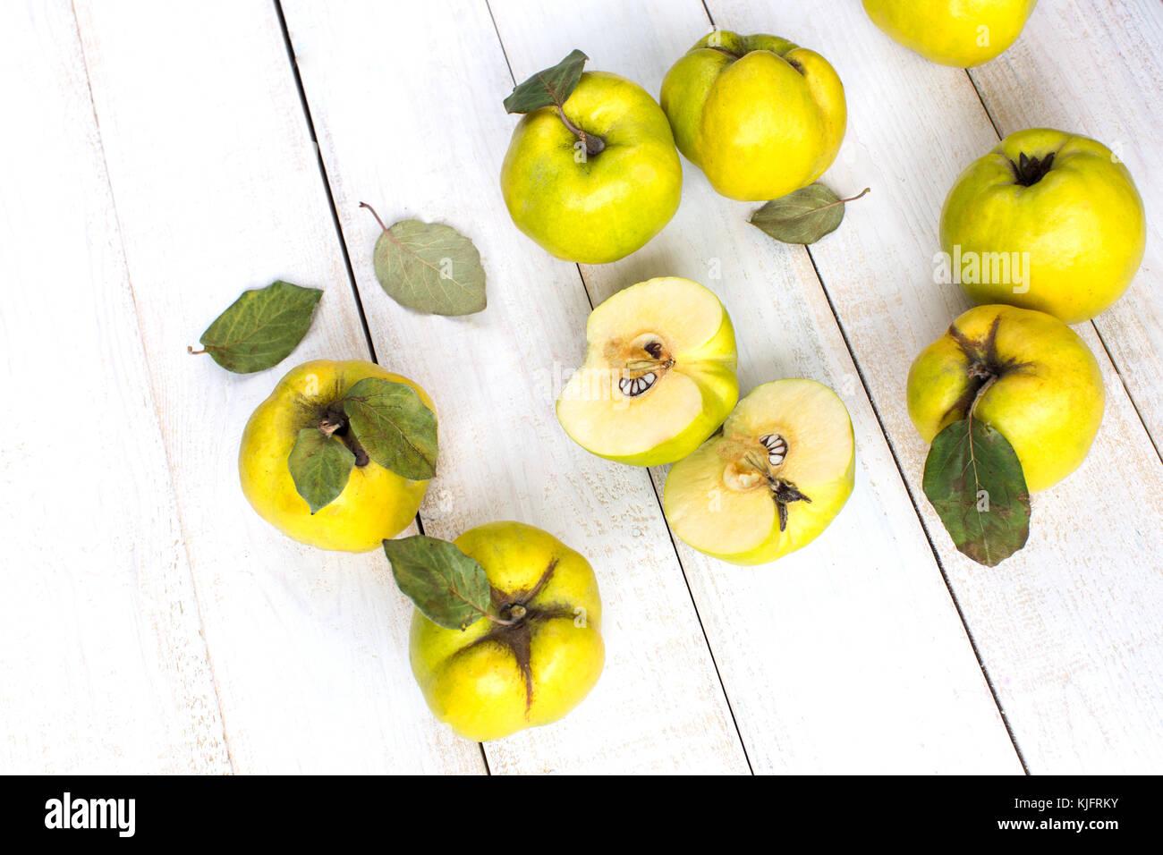 Behandlung Herbst Ernte Konzept Im Weißen Holz Oberfläche Der