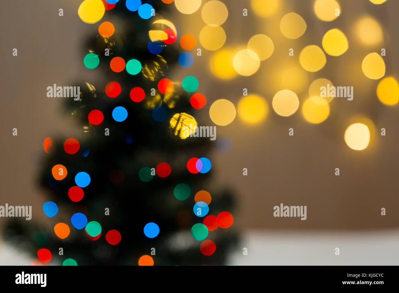 Gold Weihnachten Hintergrund von De-scheinwerfer Girlande mit ...