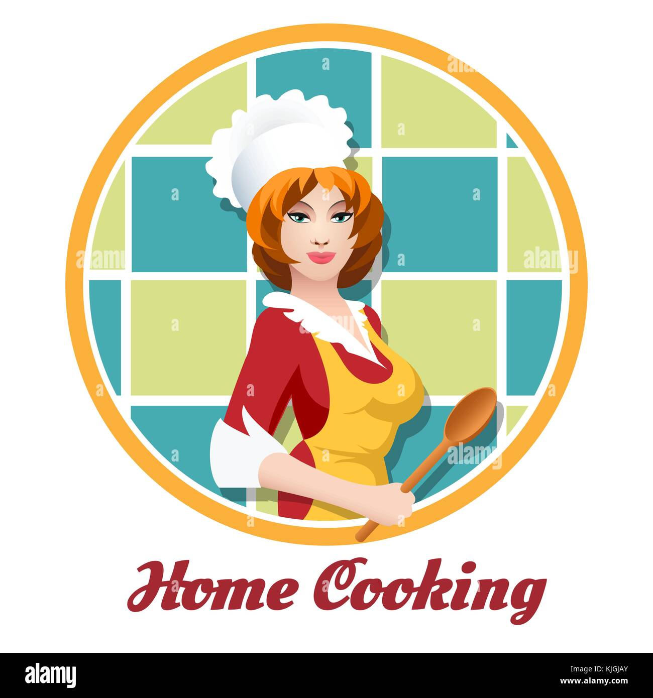 Retro Woman Cooking Stockfotos & Retro Woman Cooking
